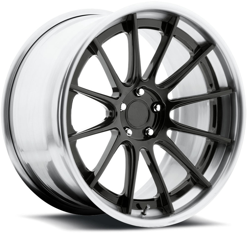 gloss candyblack-brushed gloss clear stepped and flat lip 18 inch 19 inch 5x112 cars wheels