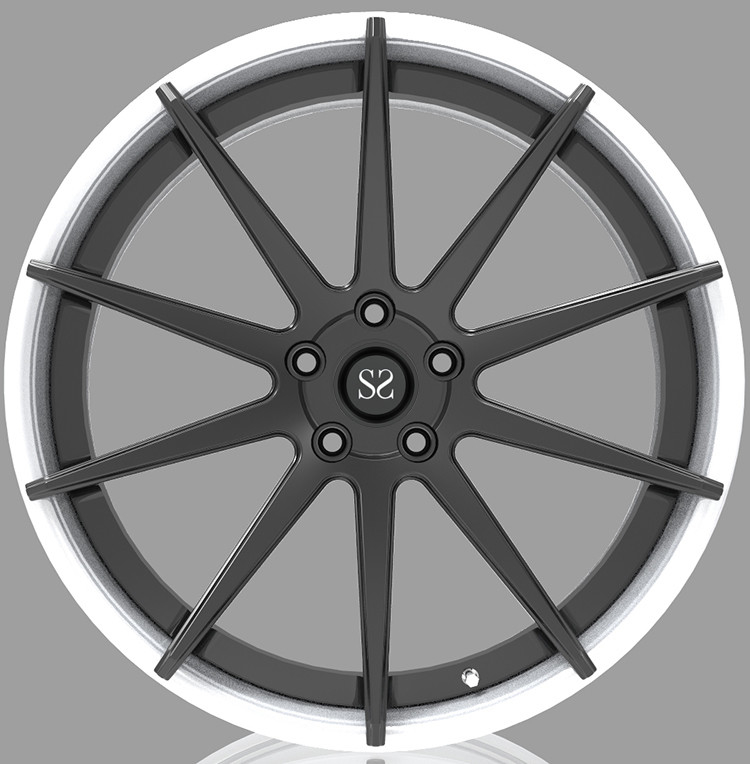 Custom Brush + Silver 21 Inch 2-piece forged wheels For Chevrolet Corvette